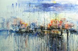Obraz do salonu artysty Dariusz Grajek pod tytułem Port w słońcu.....