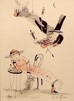 Grafika do salonu artysty Dariusz Grajek pod tytułem Mała czarna....