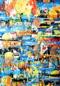 Obraz do salonu artysty Dariusz Grajek pod tytułem Regaty....