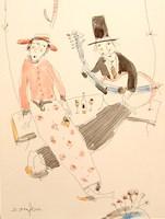Grafika do salonu artysty Dariusz Grajek pod tytułem Ona i on .....