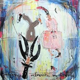 Obraz do salonu artysty Dariusz Grajek pod tytułem Zakochani w proporcjach.....