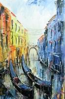 Obraz do salonu artysty Dariusz Grajek pod tytułem Weneckie dwie gondole...