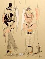 Grafika do salonu artysty Dariusz Grajek pod tytułem Anielski band....