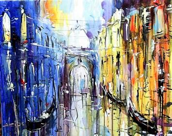 Obraz do salonu artysty Dariusz Grajek pod tytułem Wenecka uliczka....
