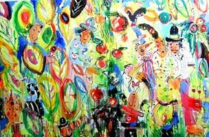 Obraz do salonu artysty Dariusz Grajek pod tytułem Paradise....
