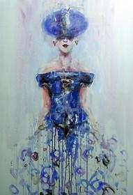 Obraz do salonu artysty Dariusz Grajek pod tytułem Ona
