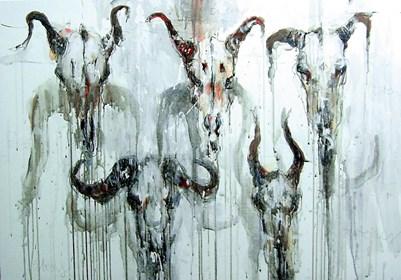 Obraz do salonu artysty Dariusz Grajek pod tytułem Totemy i ....
