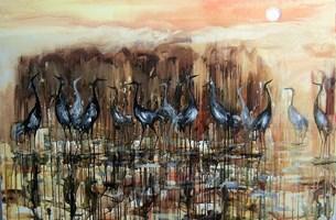 Obraz do salonu artysty Dariusz Grajek pod tytułem Żurawiniec....