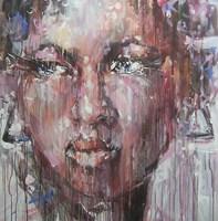 Obraz do salonu artysty Dariusz Grajek pod tytułem Kobieta w kolczykach...