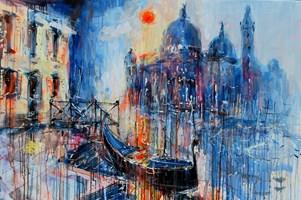 Obraz do salonu artysty Dariusz Grajek pod tytułem Słońce nad gondolą.....