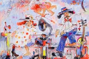 Obraz do salonu artysty Dariusz Grajek pod tytułem Amor i .....