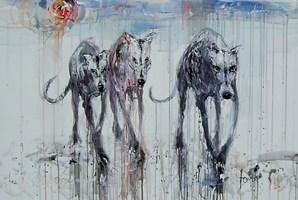 Obraz do salonu artysty Dariusz Grajek pod tytułem Zwiad....