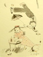 Grafika do salonu artysty Dariusz Grajek pod tytułem Mała czarna.....