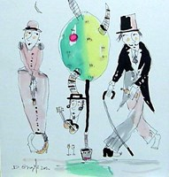 Grafika do salonu artysty Dariusz Grajek pod tytułem Adam i Ewa w Raju.....