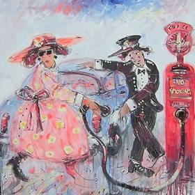 Obraz do salonu artysty Dariusz Grajek pod tytułem Na stacji benzynowej....