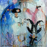 Obraz do salonu artysty Dariusz Grajek pod tytułem Człowiek Witruwiański....