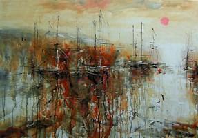 Obraz do salonu artysty Dariusz Grajek pod tytułem Zatoka w słońcu.....