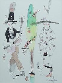 Grafika do salonu artysty Dariusz Grajek pod tytułem Rajski owoc i