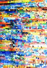 Obraz do salonu artysty Dariusz Grajek pod tytułem Zmagania....