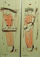 Grafika do salonu artysty Dariusz Grajek pod tytułem Anielskie muzykowanie.....Dyptyk!!!