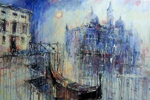Obraz do salonu artysty Dariusz Grajek pod tytułem Weneckie zakamarki....