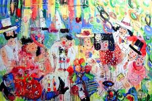 Obraz do salonu artysty Dariusz Grajek pod tytułem Piknik....