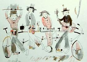 Grafika do salonu artysty Dariusz Grajek pod tytułem Kwartet i......