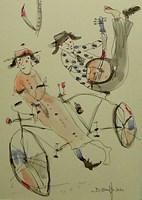 Grafika do salonu artysty Dariusz Grajek pod tytułem Na tandemie ona i on....
