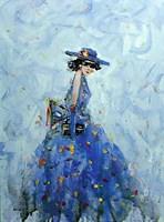 Obraz do salonu artysty Dariusz Grajek pod tytułem Chabrowy kapelusz....