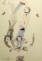 Grafika do salonu artysty Dariusz Grajek pod tytułem I love you....