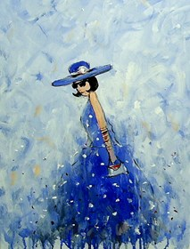 Obraz do salonu artysty Dariusz Grajek pod tytułem Kobieta w kapeluszu....