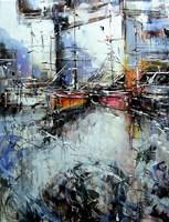 Obraz do salonu artysty Dariusz Grajek pod tytułem Port i żagle....