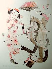 Obraz do salonu artysty Dariusz Grajek pod tytułem Życiowe wiry....