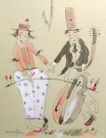 Grafika do salonu artysty Dariusz Grajek pod tytułem Smyczkowy duet