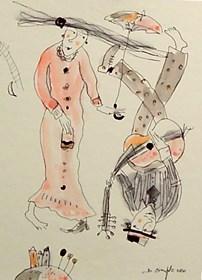 Grafika do salonu artysty Dariusz Grajek pod tytułem Zakochani....