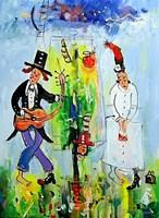 Obraz do salonu artysty Dariusz Grajek pod tytułem W nas w Edenie....