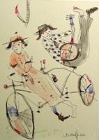 Grafika do salonu artysty Dariusz Grajek pod tytułem Rower,pani i pan...
