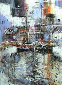 Obraz do salonu artysty Dariusz Grajek pod tytułem Mały port...