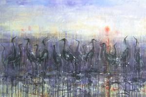 Obraz do salonu artysty Dariusz Grajek pod tytułem Ptaki...