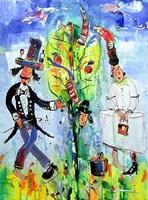 Obraz do salonu artysty Dariusz Grajek pod tytułem Adam i Ewa w raju....