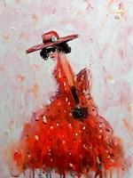 Obraz do salonu artysty Dariusz Grajek pod tytułem Kobieta w kapeluszu...