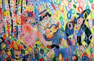 Obraz do salonu artysty Dariusz Grajek pod tytułem Śniadanie na trawie...