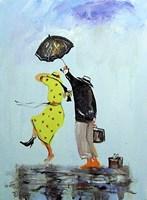 Obraz do salonu artysty Dariusz Grajek pod tytułem Podróżnicy....