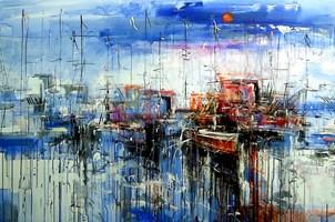 Obraz do salonu artysty Dariusz Grajek pod tytułem Słoneczny port