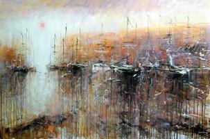 Obraz do salonu artysty Dariusz Grajek pod tytułem Zapomniana zatoczka....