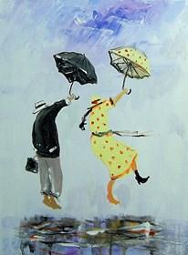 Obraz do salonu artysty Dariusz Grajek pod tytułem Dwa parasole...