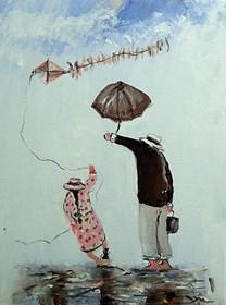 Obraz do salonu artysty Dariusz Grajek pod tytułem Latawiec....