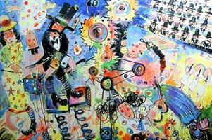 Obraz do salonu artysty Dariusz Grajek pod tytułem Cyrk....