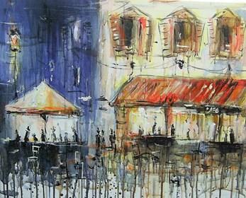 Obraz do salonu artysty Dariusz Grajek pod tytułem Cafe Toscania...