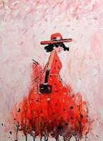 Obraz do salonu artysty Dariusz Grajek pod tytułem Czerwona sukienka...